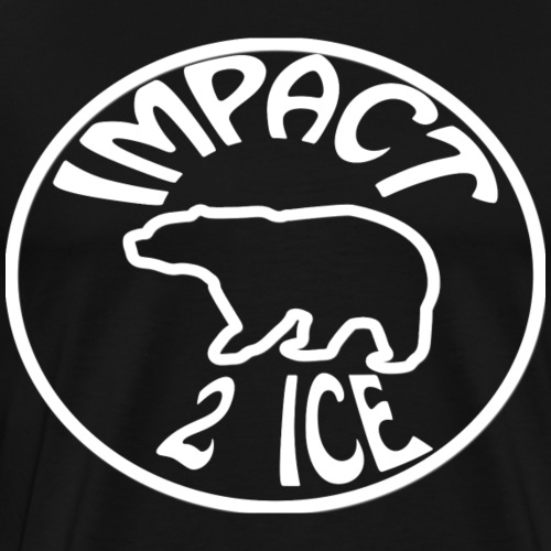logo impact blanc - T-shirt Premium Homme