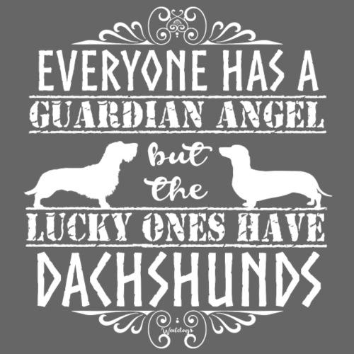 Dachshund WH SH Angels2 - Miesten premium t-paita