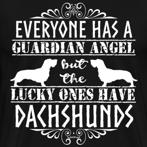 Dachshund WH Angels 2 - Men's Premium T-Shirt
