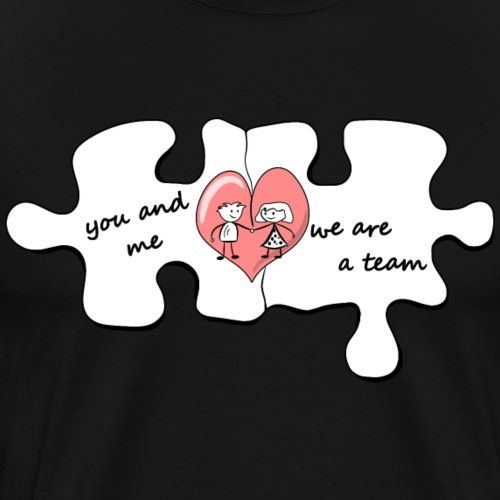 you and me - Love - Team - Männer Premium T-Shirt
