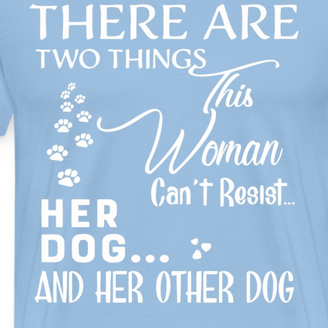 Her dog and her other dog shirt