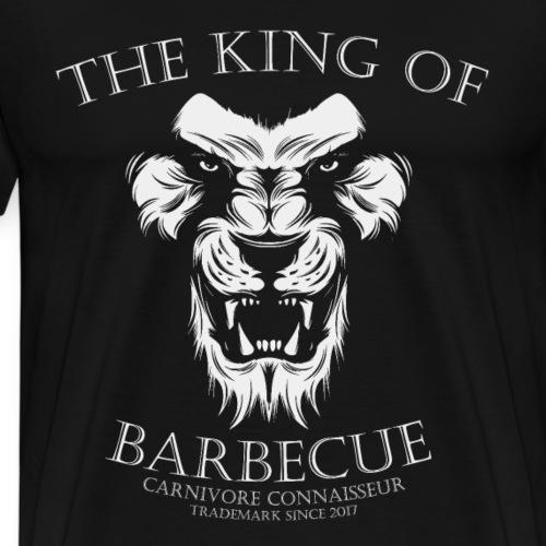King of Barbecue - Löwenkopf (Grillshirt) - Männer Premium T-Shirt
