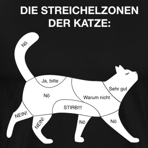 Katzen Tierfreund Humor Lustig Geschenk - Männer Premium T-Shirt