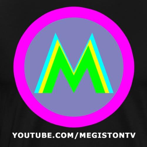 Megiston Logo Bianco - Maglietta Premium da uomo