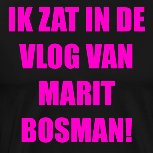 IK ZAT IN DE VLOG VAN MARIT BOSMAN (OFFICAL) PINK - Mannen Premium T-shirt