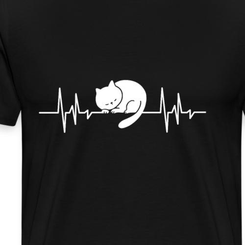 Mein Herz schlägt für Katzen Haustier Geschenk - Männer Premium T-Shirt