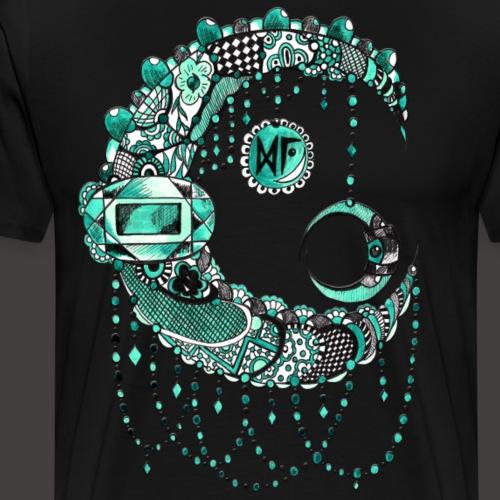 Lune dentelle Turquoise - T-shirt Premium Homme