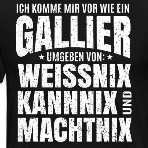 Gallier - Weissnix, Kannix und Machtnix - Arbeit - Männer Premium T-Shirt
