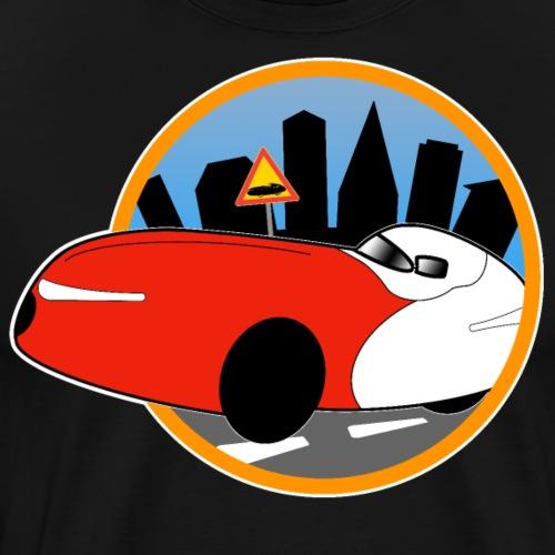 Velomobile-skyline - Miesten premium t-paita
