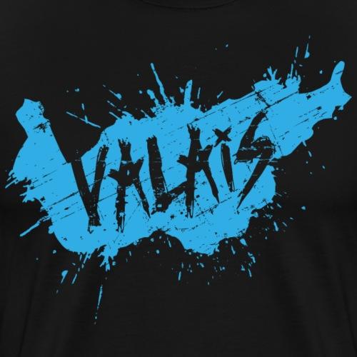 VALAIS GRUNGY BLAU - Männer Premium T-Shirt