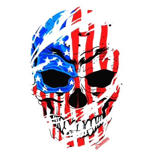 Teschio bandiera USA effetto strappo by Mescal - Maglietta Premium da uomo