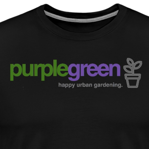 purplegreen - happy urban gardening - Männer Premium T-Shirt