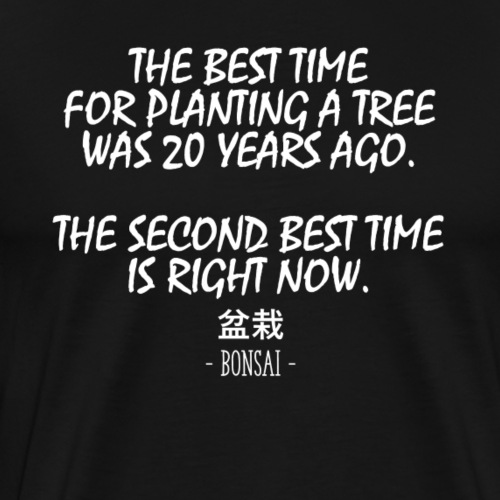 Chineese Bonsai Saying - Männer Premium T-Shirt