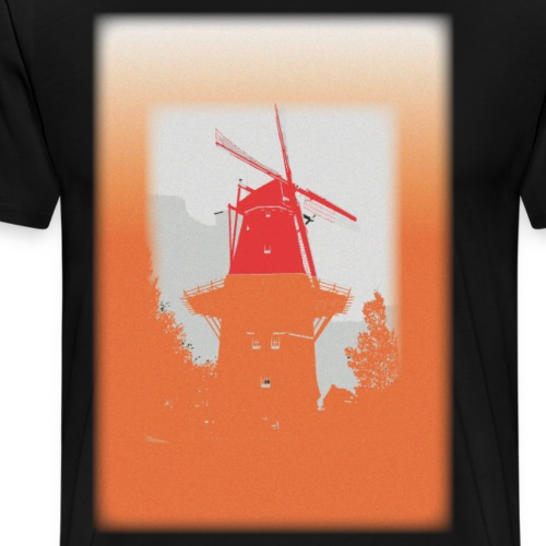 Mills orange - Herre premium T-shirt