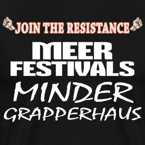 JTR Meer festivals - Mannen Premium T-shirt