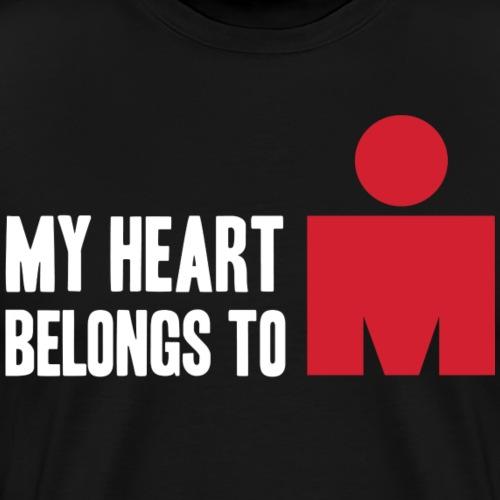 my heart belongs to - Men's Premium T-Shirt