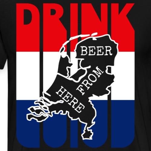 Drink Beer from HOLLAND.Vintage Drink Lover Gifts - Men's Premium T-Shirt