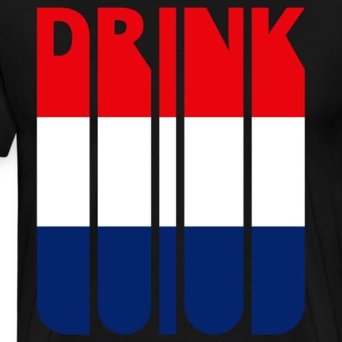 Drink. HOLLAND.Flag of The Netherlands. - Men's Premium T-Shirt