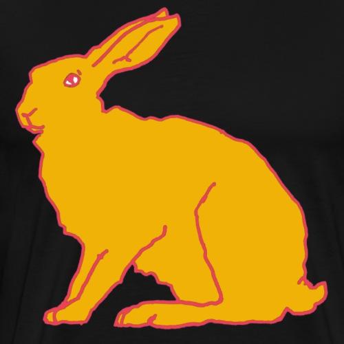 Gelber Hase - Männer Premium T-Shirt