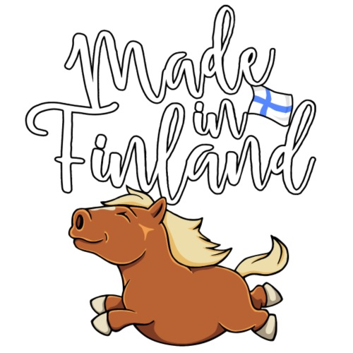 Suomenhevonen Finland - Miesten premium t-paita