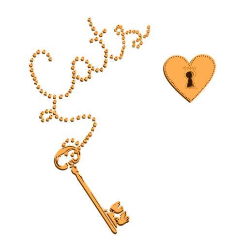 Key Cats Gold - Miesten premium t-paita