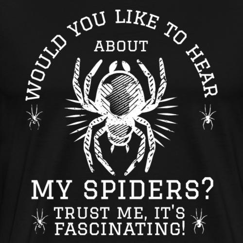 Fascinating Spiders - Miesten premium t-paita