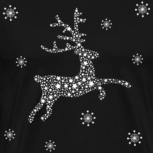 Hirsch aus Sternen und Schneeflocken, Rentier