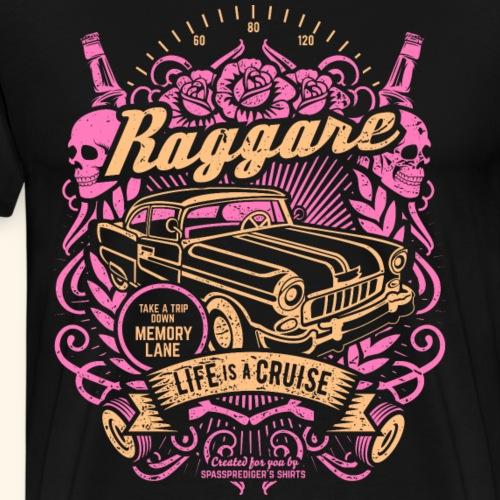 Raggare Sverige Greaser Culture T Shirt Design - Männer Premium T-Shirt