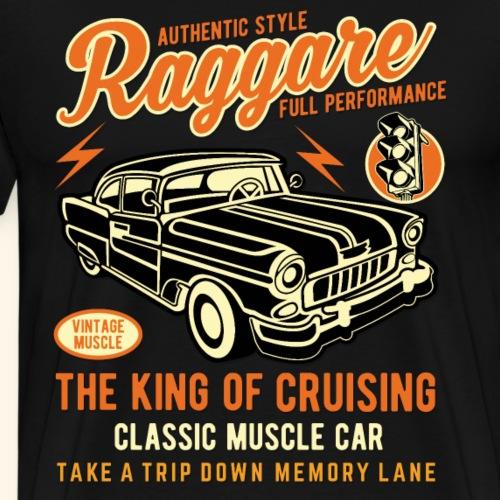 Raggare King of Cruising Muscle Car - Männer Premium T-Shirt