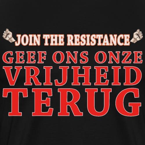 JTR Geef ons onze vrijheid terug - Mannen Premium T-shirt