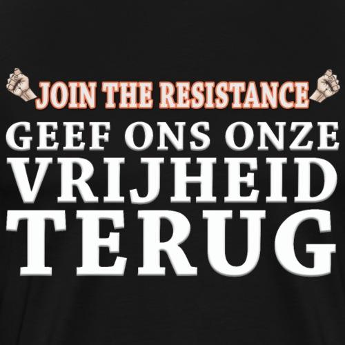 JTR Geef ons onze vrijheid terug wit - Mannen Premium T-shirt