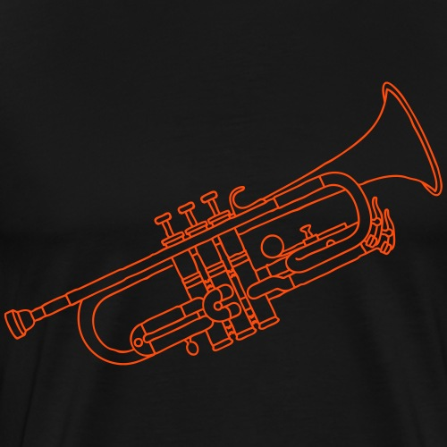 Trompete Blechblasinstrument - Männer Premium T-Shirt