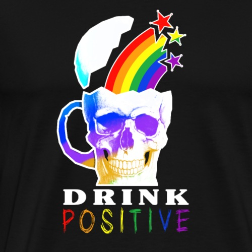 Rainbow Skull LIGHT - Maglietta Premium da uomo