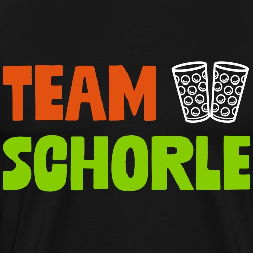 Team Schorle und Dubbe Schoppenglas - Männer Premium T-Shirt