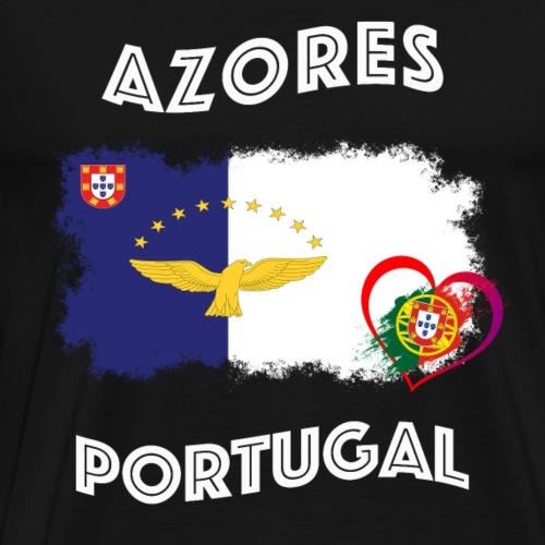 Azores Azoren Habicht Portugal Herz Flagge Fahne
