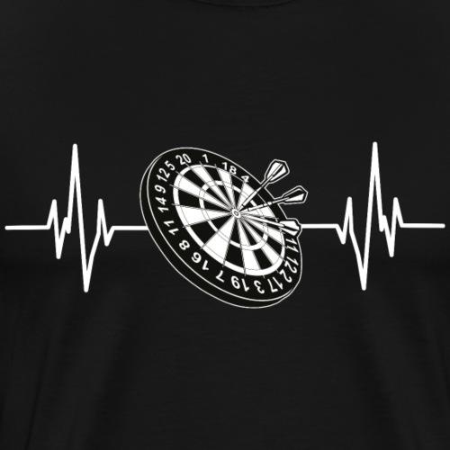 Darts Herzschlag - Männer Premium T-Shirt