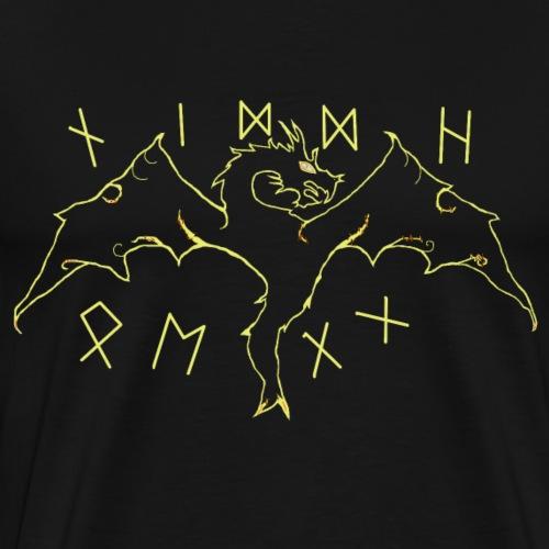 Der Drache Niddhögg der nordischen Edda - Männer Premium T-Shirt