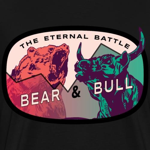 The eternal battle Stockmarket Bear and Bull - Männer Premium T-Shirt
