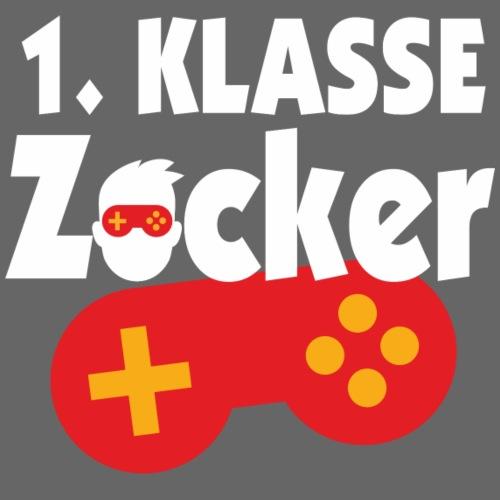 1. Klasse mit Controller Gamepad Gamer Spieler - Männer Premium T-Shirt