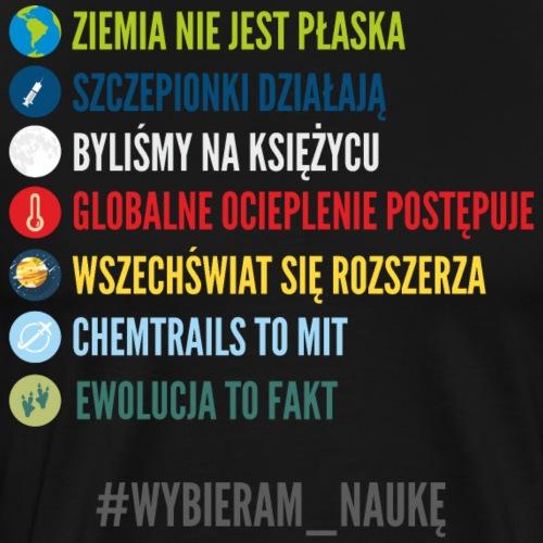 #WYBIERAM_NAUKĘ - Koszulka męska Premium
