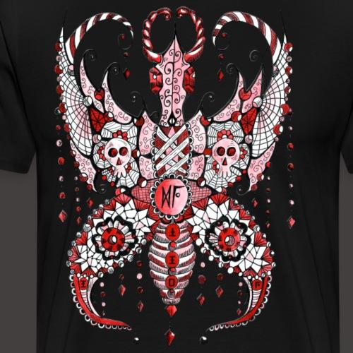 Papillon Lilou Rouge - T-shirt Premium Homme
