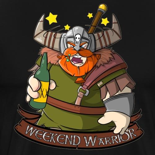 Weekend Warrior - Wikinger mit Bier am Wochenende - Männer Premium T-Shirt
