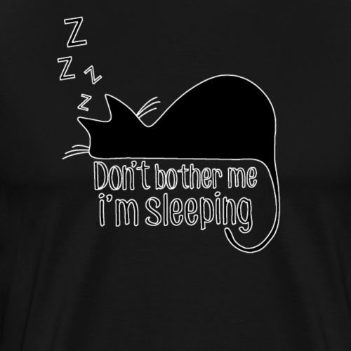 Sleeping cat black - Men's Premium T-Shirt