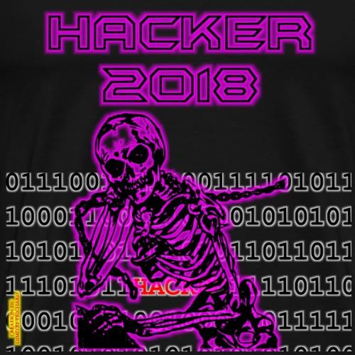 1.0: mort + hacker - T-shirt Premium Homme