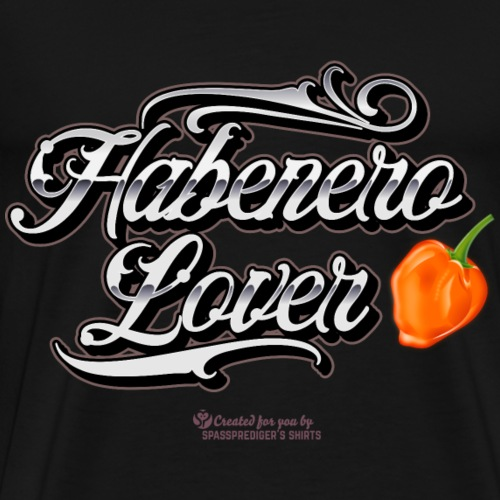 Chili Design Habanero Lover für Scoville-Fans - Männer Premium T-Shirt