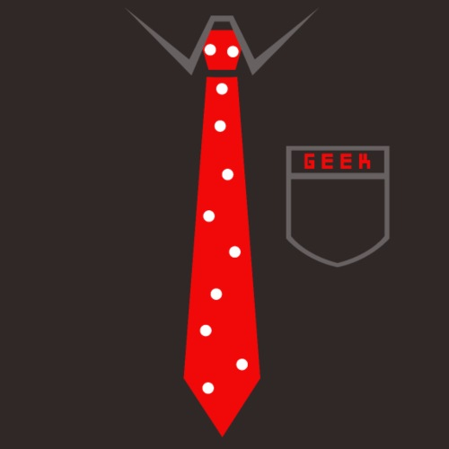 Geek | Schlips Krawatte Wissenschaft Streber - Männer Premium T-Shirt