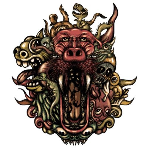 Creatures - Camiseta premium hombre