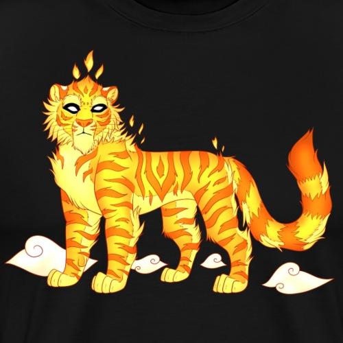 The Fire Tiger - Men's Premium T-Shirt