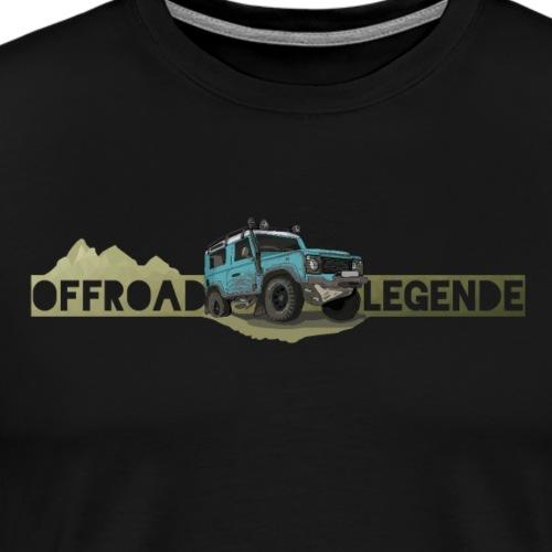 Englische 4x4 Offroad Legende - Cool Comic Styl - Männer Premium T-Shirt