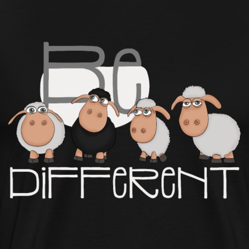 Cool Be Different Sheep Gang - Good Mood Sheep - Men's Premium T-Shirt